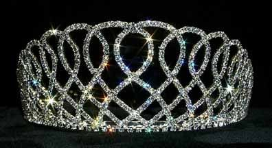 "Elizabethian  lace  tiara 2 5/8"" tall - $47.95 For  more  info  please  contact - Shoot  for  the  Moon  Jewelry  Designs (850) 230-9983 #bridaltiaras #tiaras #rhinestones"