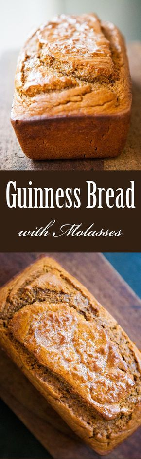 All of the rich malty goodness of Irish Guinness in a quick bread with molasses! Easy quick bread, perfect for St Patrick's Day. On SimplyRecipes.com