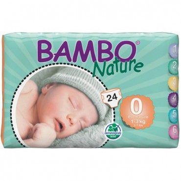 Pieluszki jednorazowe Bambo Nature PREMATURE 0, 1-3 kg 24 szt ABENA Toddlersi