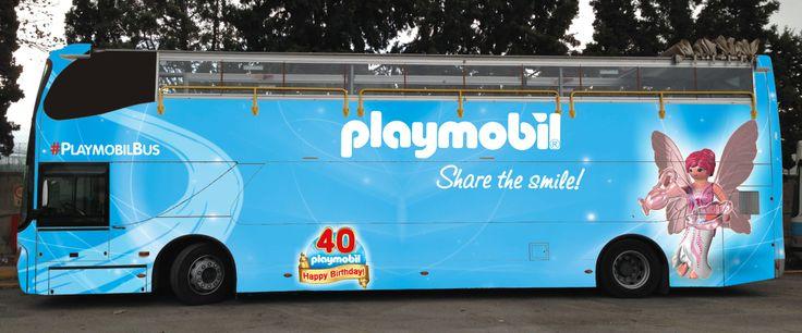 Το PLAYMOBIL Bus ξεκινά τις βόλτες του στην Αθήνα  Η PLAYMOBIL συμπληρώνει 40 χρόνια  και το γιορτάζει με μια ξεχωριστή δραστηριότητα