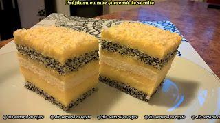 DIN SERTARUL CU REȚETE: Prăjitură cu mac și cremă de vanilie