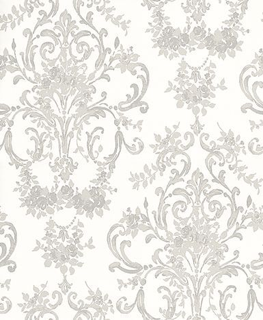 Aston Silver wallpaper by Laura Ashley in our living area