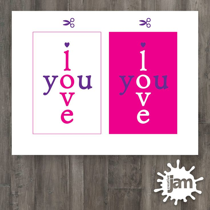 "I Love You / Valentine's Day / 4""x6"" Card Printables / Greeting Card / Sweetheart by CreativeJamPress on Etsy"