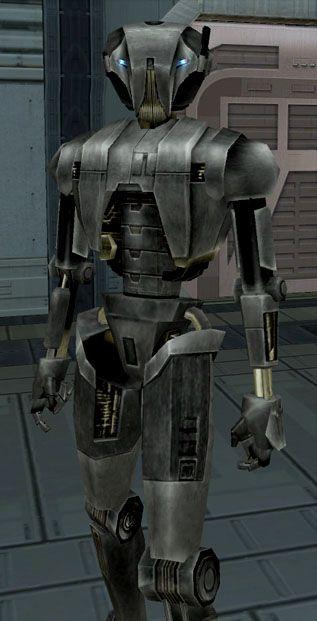 Los droides asesinos HK-51 son versiones avanzadas de los droides asesinos HK-50, que son creados en la fábrica de droides HK. Su apariencia es igual que el droide HK-47 y los droides HK-50, excepto en los fotorreceptores, que son de color azules en lugar de naranja, y su acero es de color negro-gris. En una parte quitada del Star Wars: Caballeros de la Antigua República II: Los Señores Sith, HK-47 va a confrontar a G0-T0 en Malachor V, y es ayudado por un grupo de HK-51, quienes también…