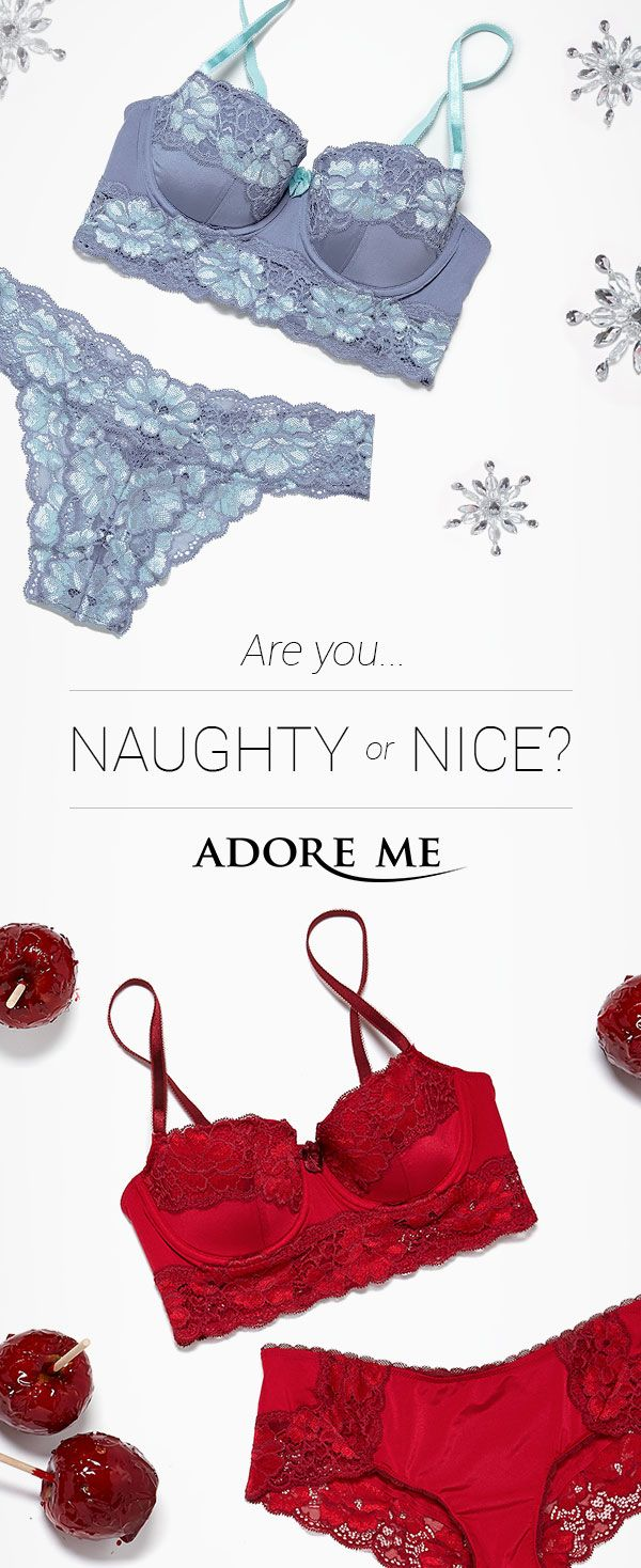 <3 Are you naughty or nice? Discover your lingerie style at Adore Me <3