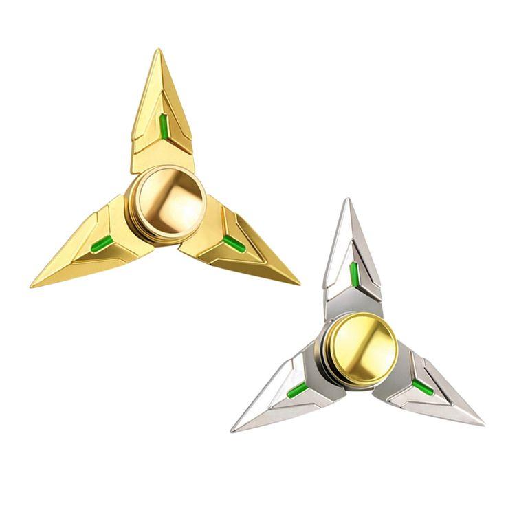 2pcs Fidget Spinner Gold Cartoon Game Hand Spinner Metal Alloy Finger Spiner Siver
