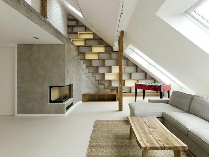 innendesign ideen wohnzimmer einrichten dachgeschoss