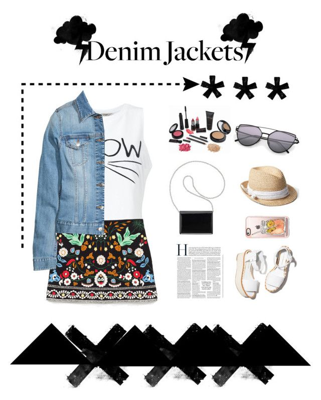 """""""denim jackets"""" by littlelook on Polyvore featuring Miss Selfridge, Nine West, Paloma Barceló, Casetify and Gap"""