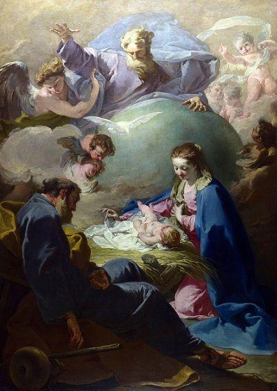 Giovanni Battista Pittoni: Dios Padre y la Sagrada Familia.