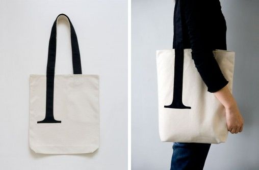 Serif Tote Bag by Little Factory