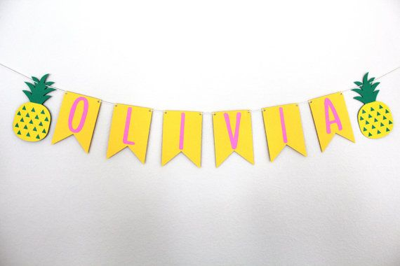 Custom Pineapple Banner  Personalized by MagnoliaBloomBtq on Etsy