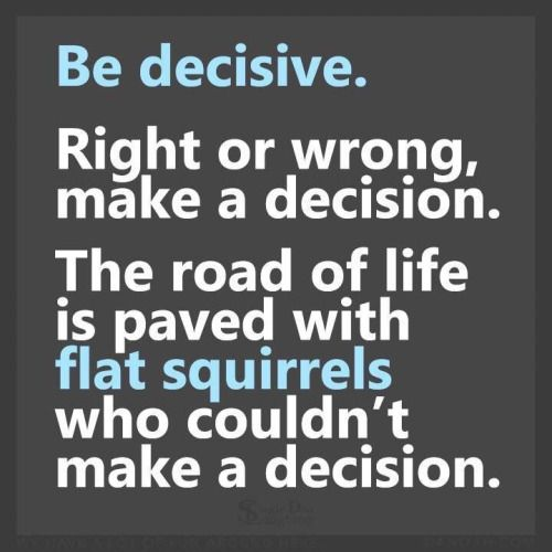 Wow! Never thought of it like that. Think I've been a flat squirrel most of my life. :(  Time for a change