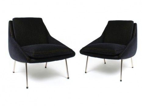 Joseph-André Motte; Paire de fauteuils modèle 800, Edition Steiner France, 1958