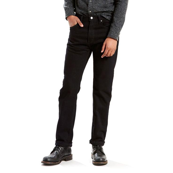 Big & Tall Levi's® 505™ Regular Fit Jeans, Men's, Size: 42X34, Black