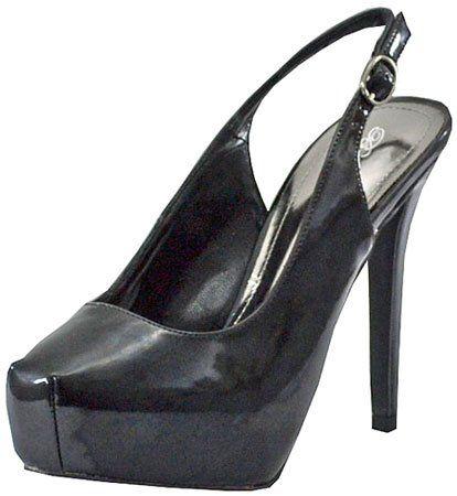 Breckelles Vanesa-12 Black Women Platform Pumps   Sell Cheap Shoes