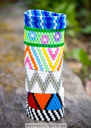 Armband av plastpärlor - Idébank - DIY - Make  Create