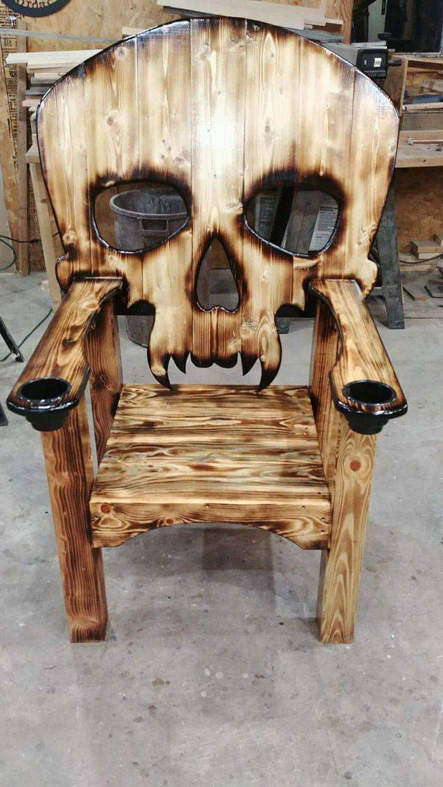 skull adirondack chair plans wicker swivel outdoor 50 of today s freshest pics and memes skulls pinterest furniture cool pallet