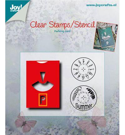 """Joy!crafts Schneide- und Debossingschablone mit Stempel""""Parkscheibe"""""""