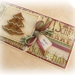 kartka,Boże Narodzenie,pierniczek,retro,święta, - Kartki okolicznościowe - Akcesoria