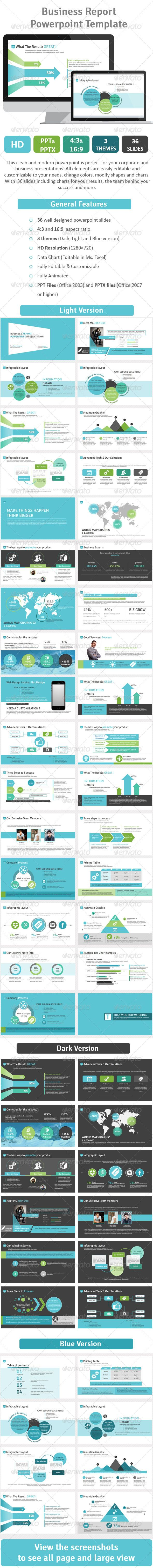Business Report Powerpoint Template Vol.2 (Powerpoint Templates) #Powerpoint #Powerpoint_Template #Presentation