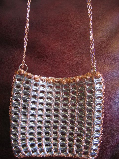 Copper Wire and Pull Tab Purse - finished