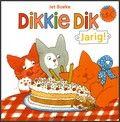 Dikkie Dik kan niet slapen omdat hij de volgende dag jarig is. Als zijn verjaardagsbezoek komt, is hij zo moe dat hij zijn ogen bijna niet kan openhouden. Prentenboek met vrolijke kleurenillustraties. Vanaf ca. 2 jaar.