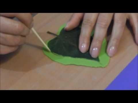 Еще один способ лепки листьев сирени (и  других )из холодного фарфора