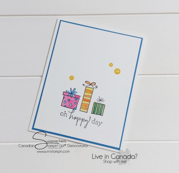 Monday Makes – Happiest of Days card | SuNN Stampin'