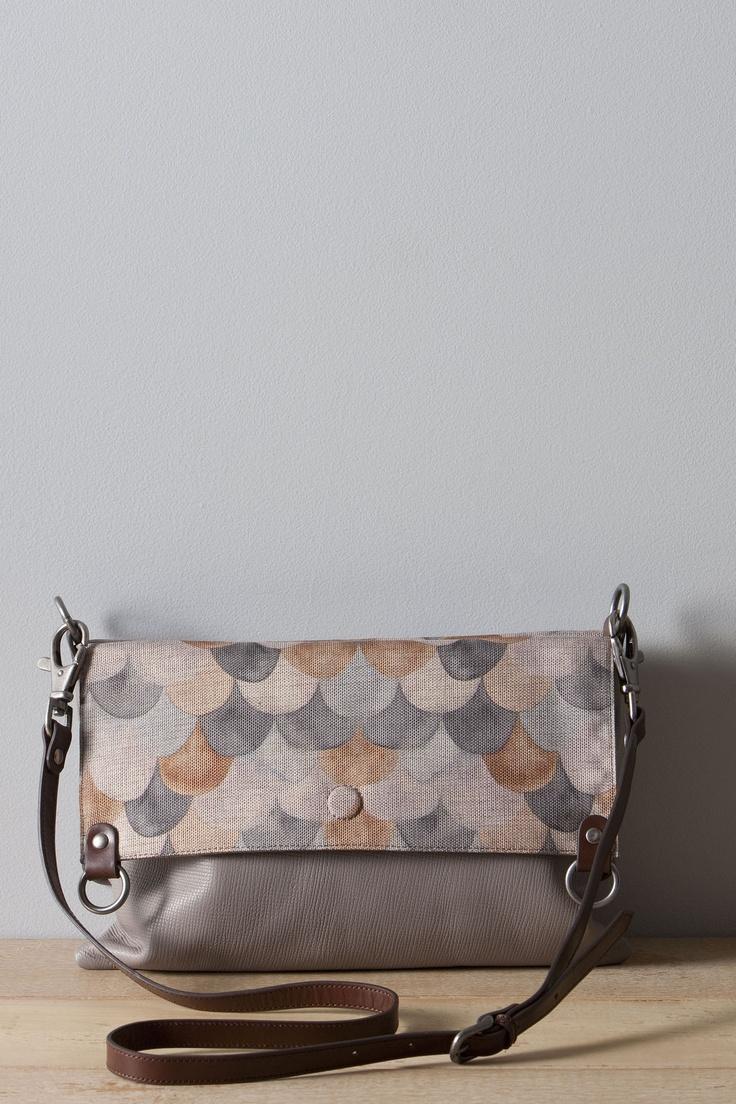 """Scarf bag"" in grey by Nancy Bird."