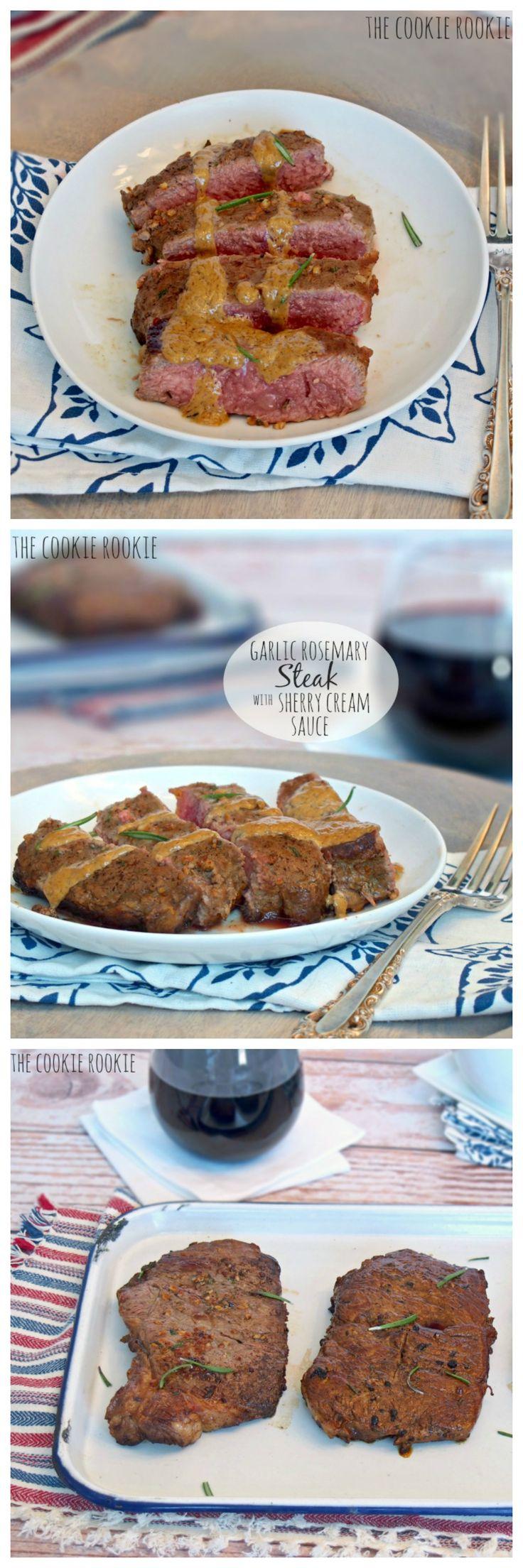 garlic rosemary steak with sherry cream sauce garlic rosemary steak ...
