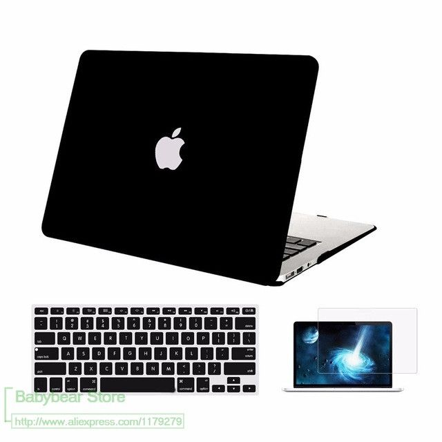 3in1 For Apple Macbook Air 13 Plastic Hard Case Cover for Mac book Pro 13 Retina 13.3 Laptop Shell+Keyboard Cover+Screen Film