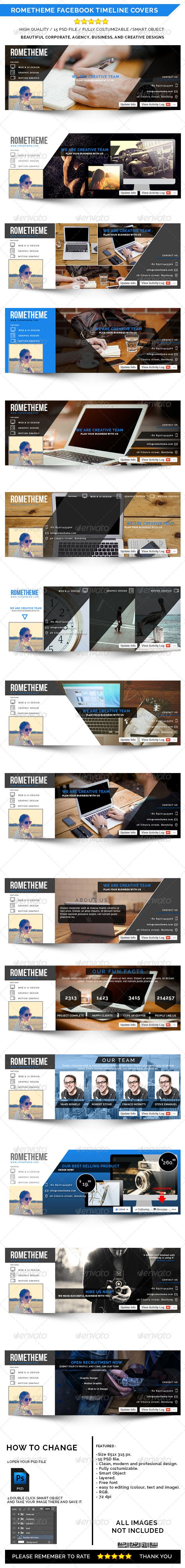 Rometheme Facebook Timeline Cover, High quality, easy to editable, fully costumizable, Smart Object, 72 dpi, for your corporate, creative, agency, and business facebook timeline cover.#Graphicriver  #FacebookTimelineCover #FacebookTImeline  #Facebookprofile #TimelineCover # profileCover #Facebookcover #webelement #cover #business #corporate