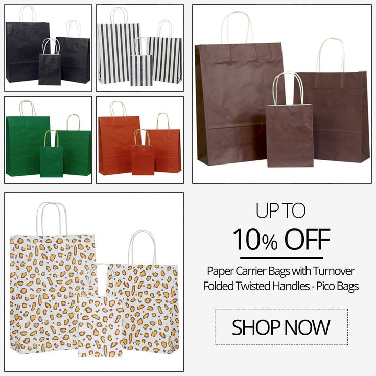 Buy at 10% off wide range of collection of #paper #carrier #Bags with handles