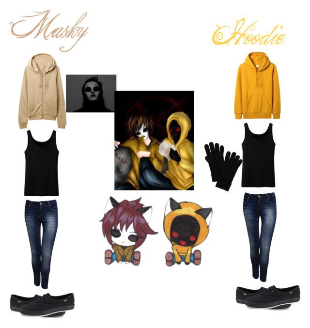 """""""Masky and hoodie"""" by geekeryclothing ❤ liked on Polyvore featuring Uniqlo, Jane Norman, Keds and rag & bone"""