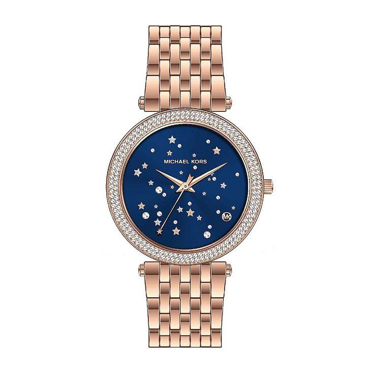 En la nueva colección de Michael Kors destaca el modelo de mujer #Darci, un reloj en acero pavonado en rosa con una bonita esfera en azul decorada con piedras y estrellas; un diseño original y muy femenino que puedes encontrar en http://www.todo-relojes.com/detalle.asp?codigo=31911 en oferta a 249€ #relojesMichaelKors #relojesmujer #relojesdemarca #ofertasrelojes #todorelojes