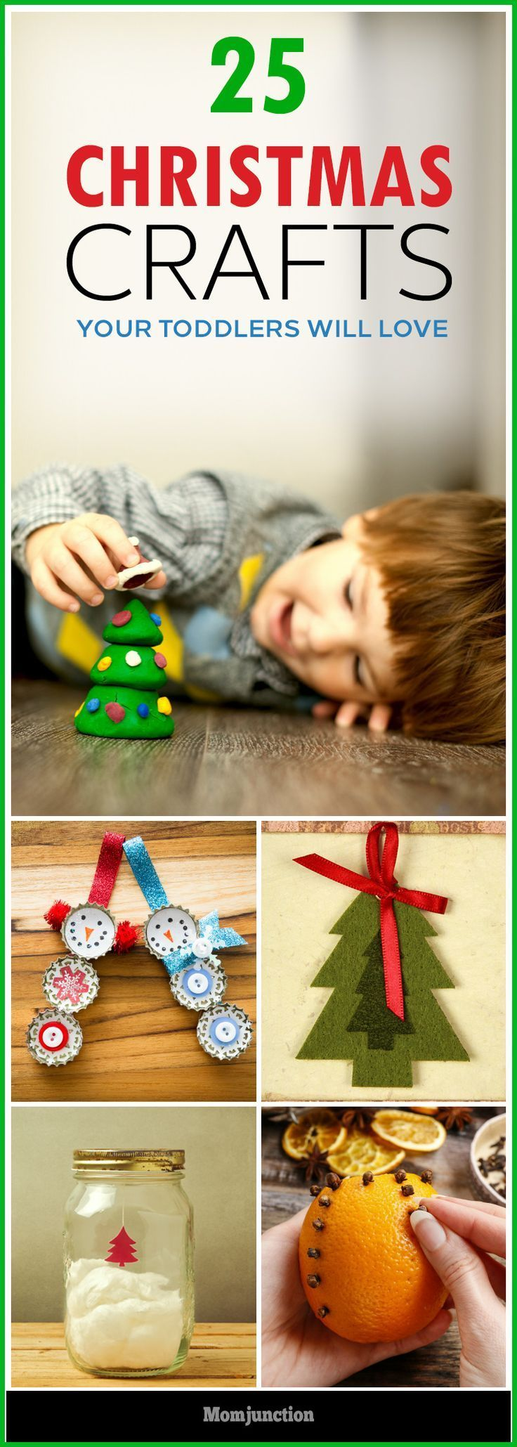 A great way to keep your toddlers entertained & busy for Christmas is by making some easy & fun Christmas crafts for toddlers at home. Check out some fun options.