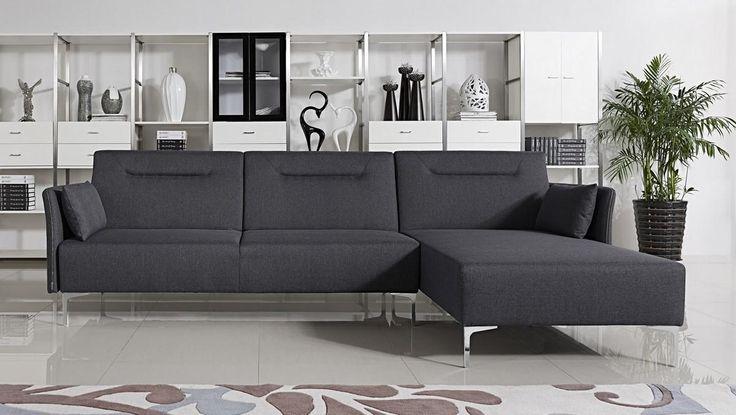 Stylish Design Furniture - Divani Casa 1365B Modern Grey Fabric Sofa Bed Sectional