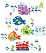 Seaside Splash Behavior Bulletin Board Set Product Image