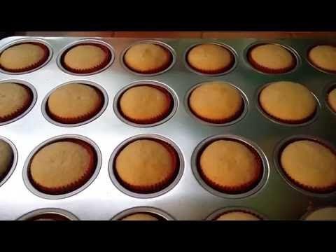 Receta cup cake basico- como hacer cup cakes #1 - YouTube