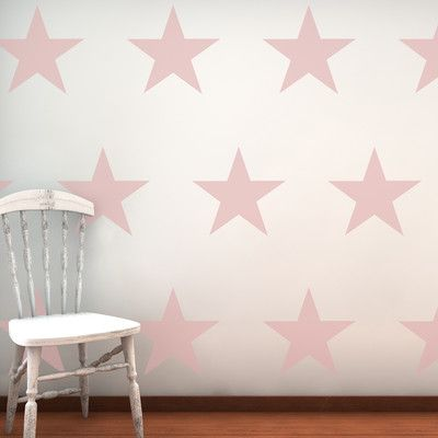 16 Piece Large Star Wall Sticker Set: 3 colour options