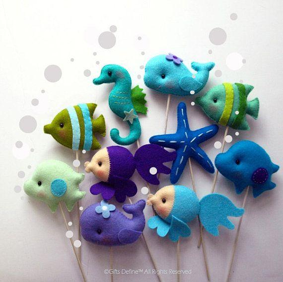 Under the Sea Friends Custom Party Favor Cupcake von GiftsDefine