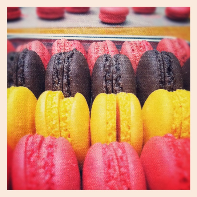 Macarons in color