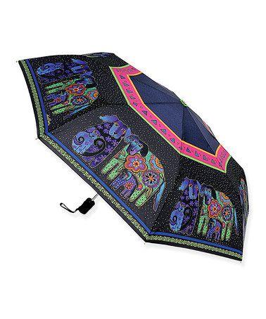 Loving this Black Dog & Doggies Compact Umbrella on #zulily! #zulilyfinds