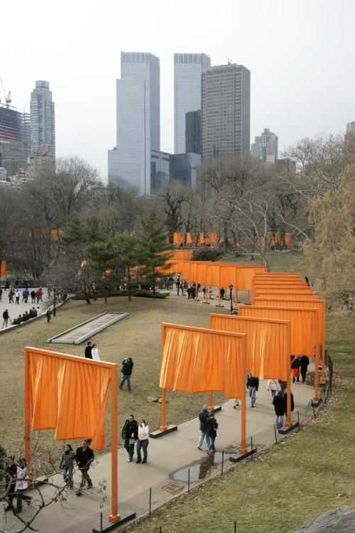 Christo and Jeanne Claude's Gates in Central Park, NYC