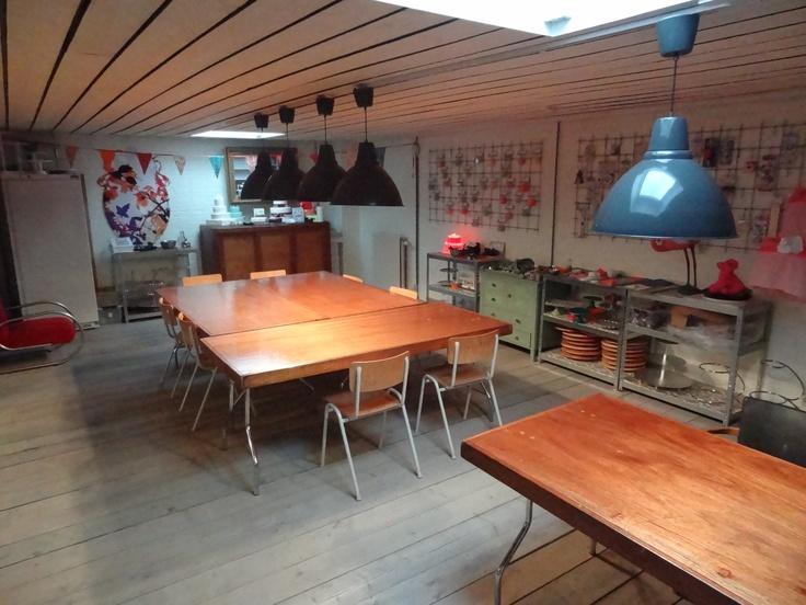 Bakatelier in Breda Princenhage. De workshopruimte.