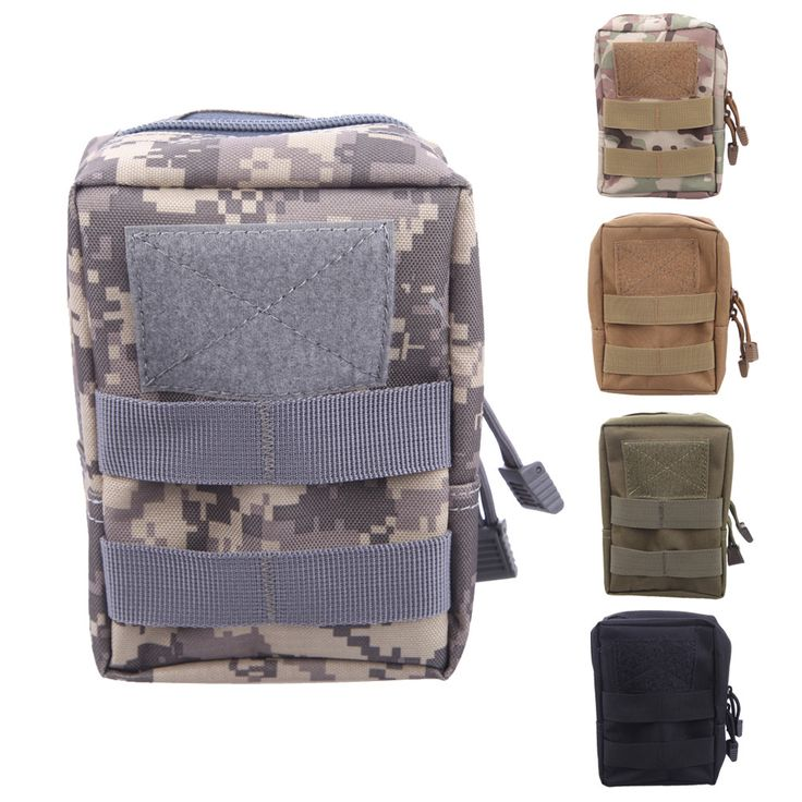 Multifunctional 600D Fabric-Waterproof Bag Tactical Molle Pouch Belt Waist Pack Bag Military Waist Fanny Phone Canvas H1E1