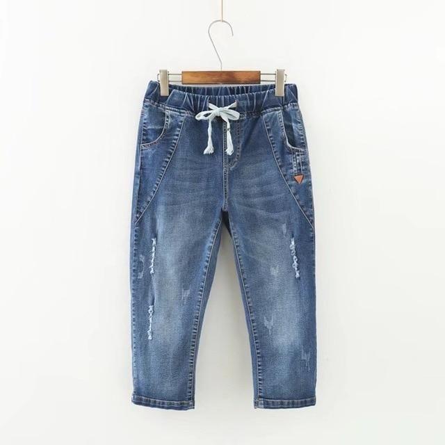 748a695aed7 Summer Skinny Jeans Capris Women Calf-Length Pants Denim Pants High Waist  Women s Jeans Plus Size Female Short Jean For Woman