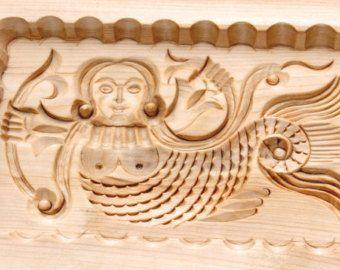 GORODETSKY MERMAID. Wooden presses mold for pressed spice-cakes / pryaniks / cookies / springerle cookies ART 101-002- 0003-15 - Edit Listing - Etsy