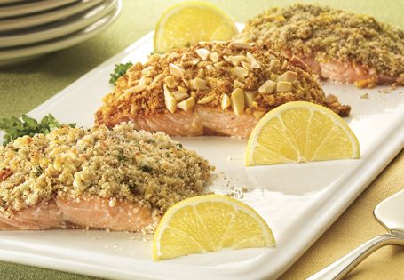 Tired of boring old fish? Spice up your salmon with three tasty crusts! #AldiFresh
