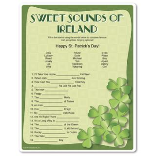 The sweet sound of victory is reserved only for the player who can complete these famous Irish song titles. St. Patrick's Day games from Funsational.